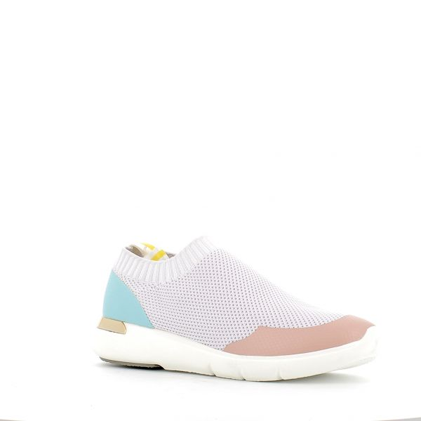 scarpa donna uma parker tessuto giallo bianco  shoes